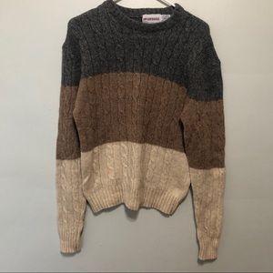 Vintage Wool Striped Neutral Sweater